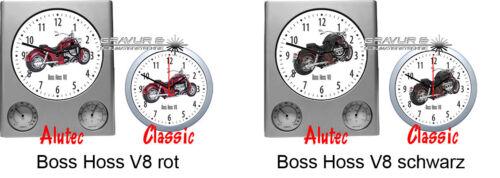 Wanduhr mit Motiv Boss Hoss Motorrad Biker Motorradmotiv Bikermotive