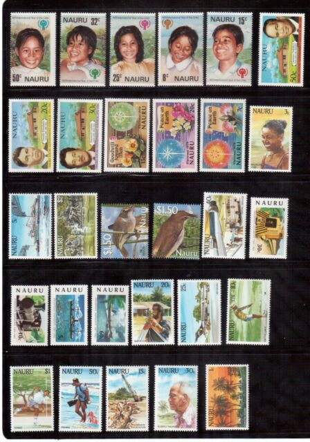 NAURU SELECTION OF 31 DIFFERENT MINT NH STAMPS !!