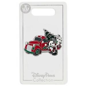 Disney-Parks-Yuletide-Granja-Mickey-Minnie-Vacaciones-Camion-Pin-Nuevo-con-Carta