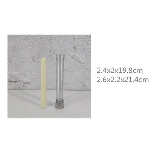 1x DIY Candle Pillar Plastic Mould Handmade Making Rod Shaped Model Molds Crafts