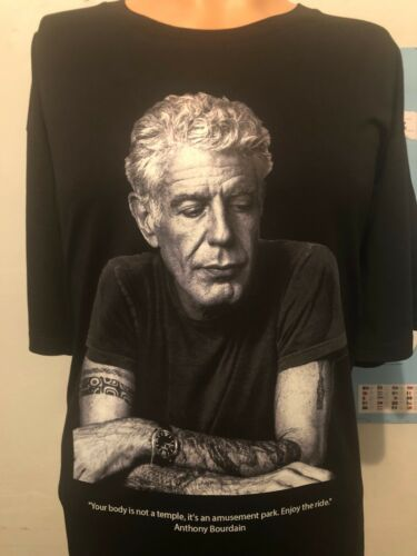Anthony Bourdain-Parc d/'Attractions-Limited T-SHIRT-grande taille
