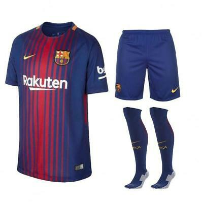 separation shoes 788d5 9e7f7 Barcelona Home Football Kit Complete Kit Shirt, Shorts & Socks Kids 2017/18  Nike | eBay