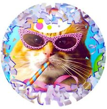 Cats Meow Round Edible Party Cake Image Topper Frosting Icing Sheet