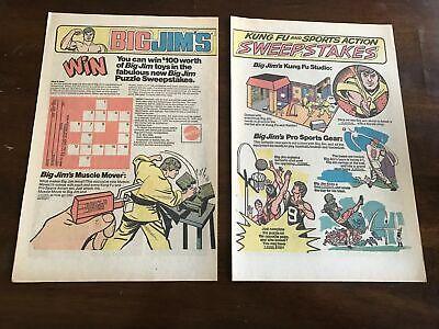TOY FIGURE PACK 1976 VINTAGE 6.5X10 COMIC PRINT AD FOR MATTEL BIG JIM/'S P.A.C.K
