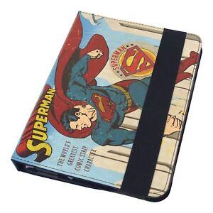 DC COMICS SUPERMAN COMIC STRIP PRINTED APPLE IPAD MINI TABLET CASE SLEEVE STAND