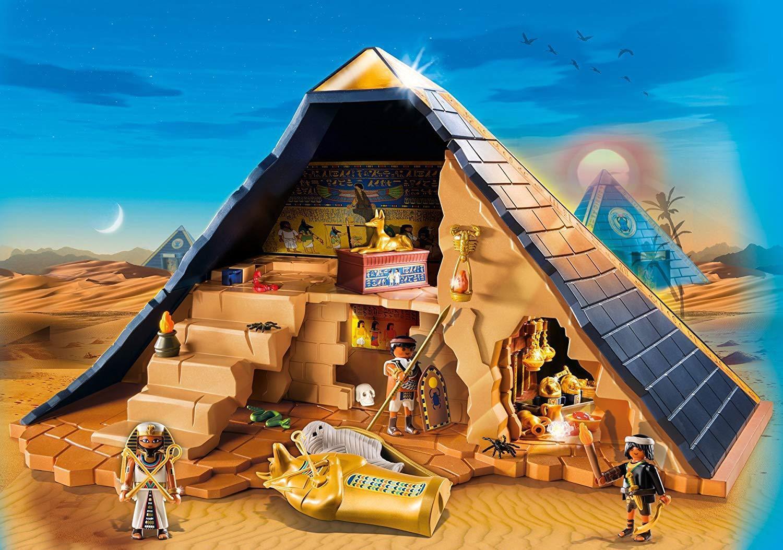 Playmobil Pyramide des Pharaos 5386 5 5 5 Kameras mit fallen con 3 Figuren und Mumie d3ea5b