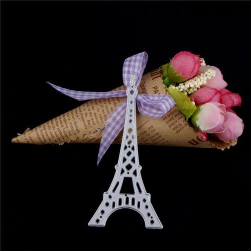 Beautiful Eiffel Tower Cut Dies Stencils Album Decor Embossing Paper DIY Card ZX