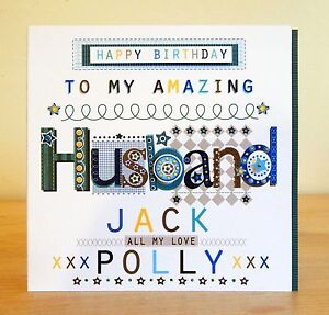 Husband happy birthday card personalised male man birthday card image is loading husband happy birthday card personalised male man birthday altavistaventures Gallery