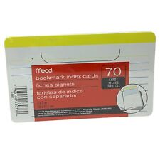 Bookmark Mead Lined Index Cards Ruled 70 Count 3 X 5 Colored For Book Notes