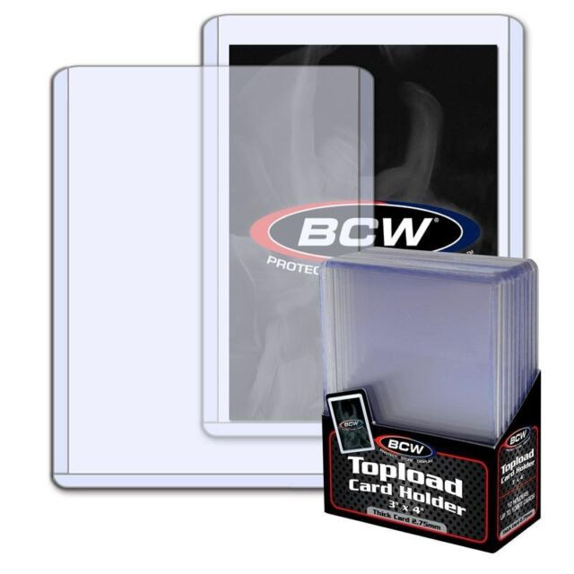 1 Case 1000 3x4 BCW 2.75 mm 108 pt. Toploaders for Jersey or Memorabilia card