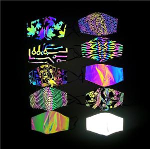 Tessuto rifrangente oleografico con sfumature arcobaleno da cucire 140cm x 100cm