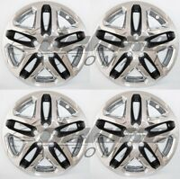 17 Chrome + Black Wheel Skins / Hubcaps For 2013 2014 2015 Ford Fusion