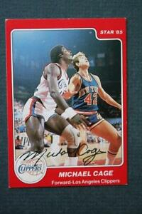 Los Angeles Clippers star Michael Cage signed 1984-85 Star basketball card-RARE!