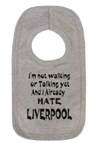 fútbol Bib Hombre ciudad el Everton No estoy caminando ya odio Liverpool Babero Man U