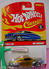 2007 Hot Wheels S3 Classics #19 TAIL DRAGGER☆Gold & Chrome; bbs☆Series 3