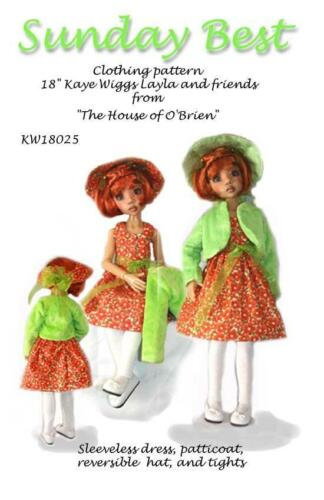 "KW18025 Sunday Best pattern to fit 18/""  Kaye Wiggs Hope"