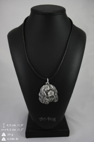 Cavalier King Charles Spaniel silver covered necklace high qauality Art Dog