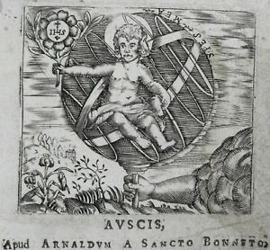 Auch Page Titre Marque Typographique Printer's Mark Arnaud De Saint Bonnet 1645