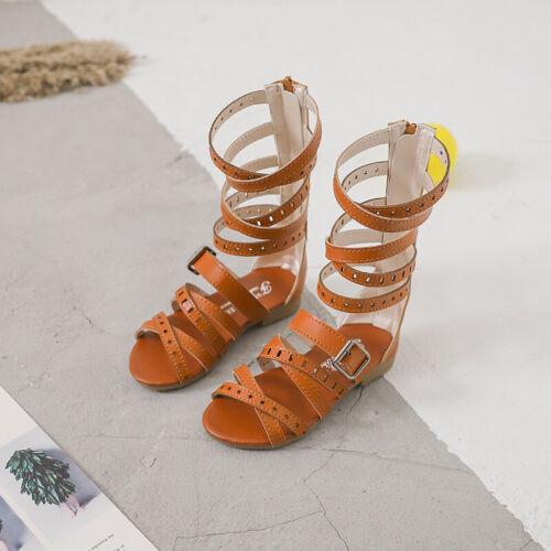 Girls Roman Sandals Children Summer Gladiator Boots Kids Sandals Zhou8