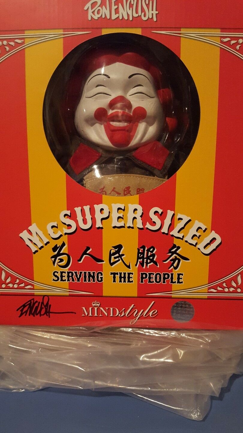 RARE Ron English Signed McSuperGrößed Serving the People NYCC SDCC Propaganda NEW