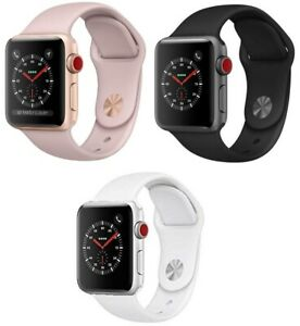 Apple-Watch-Series-3-38mm-42mm-GPS-Cellular-Pink-Gold-Space-Gray-Silver-MINT