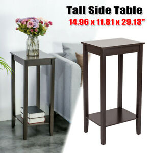 Tall Coffee Side Table Nightstand Bed Sofa Stand End Tv