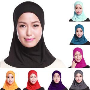 Muslim-Women-Full-Cover-Long-Hijab-Islamic-Headwear-Head-Wear-Neck-Bonnet-Cap
