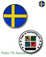 Swedish Flag - Sweden - Micro Geocoin For Geocaching