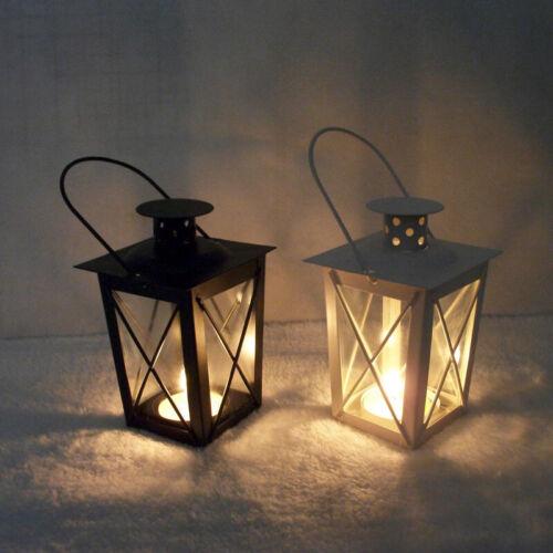 Vintage Metal Lantern Candle Holder Garden Night Wedding Outdoor Tea Light UK ZH