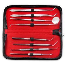 PRO SET DENTAL DENTIST PICK TOOL KIT 8pcs + Leather Case Best Quality Best Deal