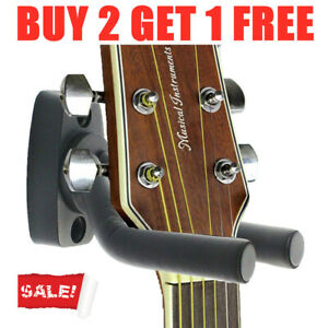 Wall-Mount-Guitar-Hanger-Stand-Holder-Rack-Display-Acoustic-Electric-Hooks-Hot