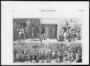 1874-Antique-Print-ROYAL-BUCK-HOUNDS-MIDDLESEX-FARMERS-DINNER-WILLIS-ROOM-013