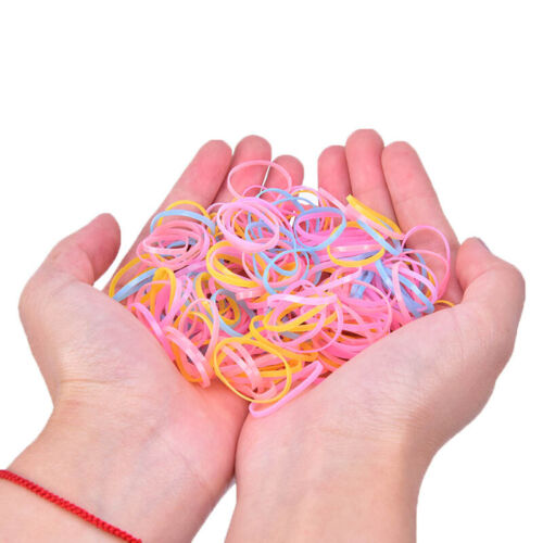 500pcs Baby Kids Hair Accessories Disposable Rubber Band Hair Ties Womens Gi L/_X