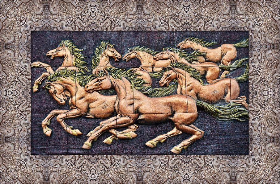 3D cavallo scultura Pavimento Foto Wallpaper Murales Muro Stampa Decalcomania