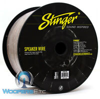 Stinger Spw518c Clear 18 Awg Gauge 1000 Feet Premium Ofc Copper Speaker Wire