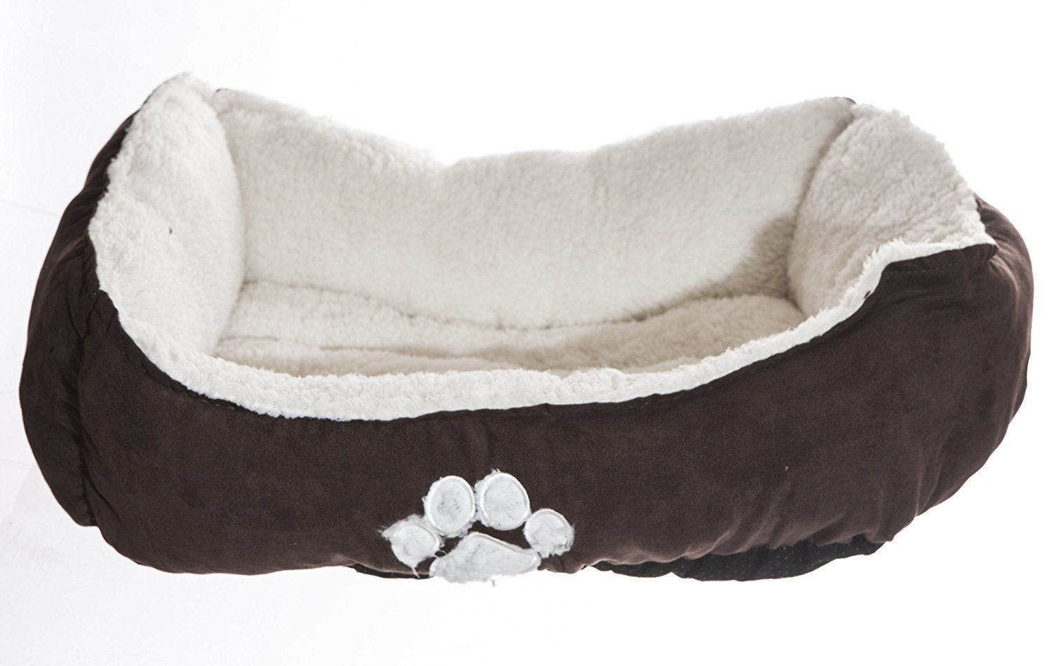 Sofantex Luxury Microfiber Pet Bed 25  L x 21  W x 8  H, Dark Coffee