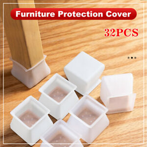Silicone Leg Feet Pads Chair Leg Caps 32Pcs Furniture Silicon Protection Cover for Chair /& Table Floor Scratches Protectors Round /& Square