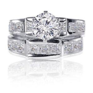 Brilliant-Round-Princess-CZ-Engagement-Genuine-Sterling-Silver-Ring-Set