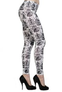 Banned Leggings Birds in cage Steam Punk Leggins Gothic Hose #3152 544