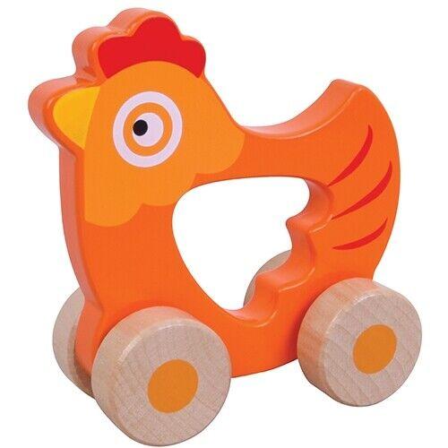 Greifling Greiflinge Holzspielzeug Motorik Baby Greifring Holz Huhn Kuh Fuchs ne