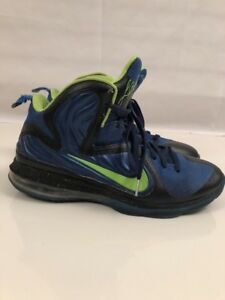 new arrival 629af 535fa Image is loading Nike-Air-Max-Lebron-9-ID-Custom-Green-