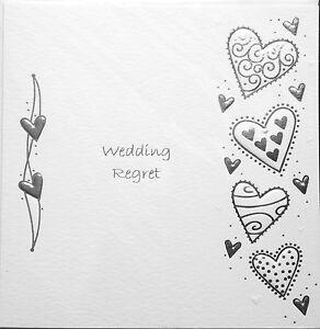 wedding invitation regret card wedding regret luxury card