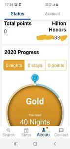 hotel membership (Hilton Gold)