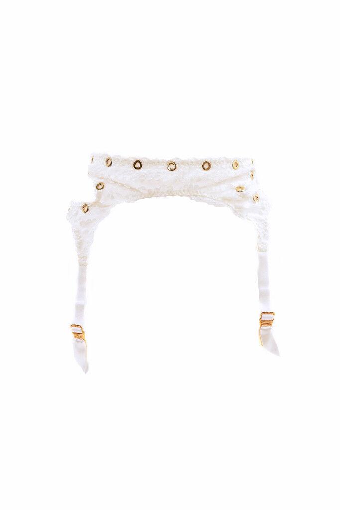 Agent Provocateur Women's Bridal Floral Lace Suspender White S RRP  BCF88