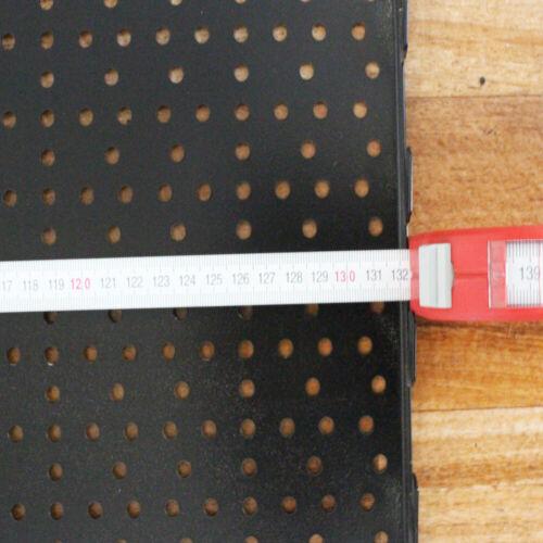 2xLochwand Lochplate Tegometall Regalsystem Rückwand 40x132cm Schwarz