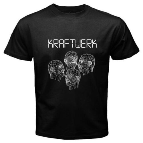 New KRAFTWERK Human Robots Electronic Band Men/'s Black T-Shirt Size S to 3XL