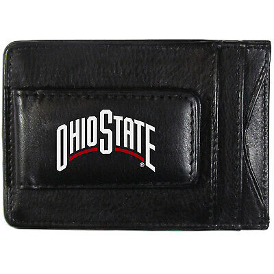 NCAA Ohio State Buckeyes Leather Money Clip//Cardholder Wallet