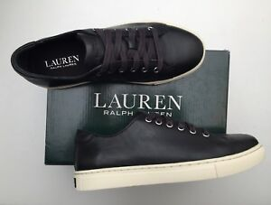 BNIB RALPH LAUREN BY RALPH BNIB LAUREN WAVERLY LEATHER TRAINERS 4.5 Guaranteed 89a674
