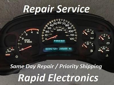 2005 GMC Sierra Duramax Diesel Speedometer Instrument Gauge Cluster Repair