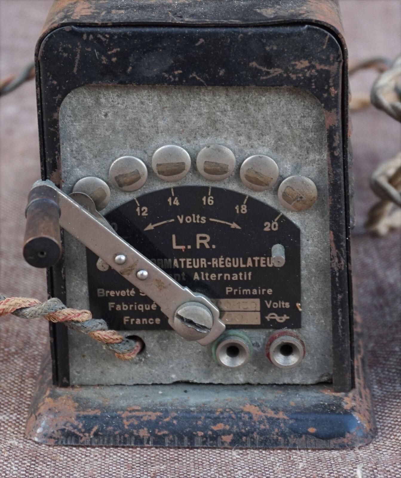 French Regulator Transformer LR Le Rapide H3 120 Volts  10 20 Volts